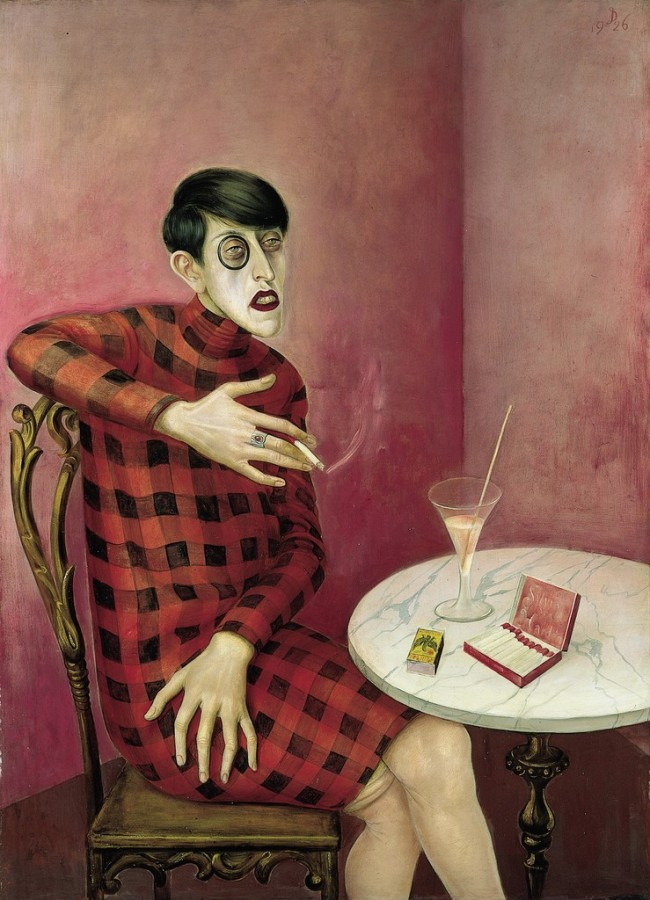 """Retrato de la periodista Sylvia von Harden"" de Otto Dix."